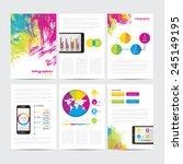 big set of infographic vector... | Shutterstock .eps vector #245149195