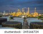 oil refinery and storage tanks... | Shutterstock . vector #245166724