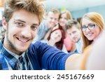 group selfie of business... | Shutterstock . vector #245167669