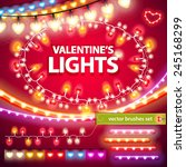 valentines lights decorations... | Shutterstock .eps vector #245168299