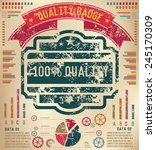 quality design on old paper... | Shutterstock .eps vector #245170309