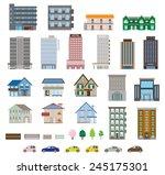 various building | Shutterstock .eps vector #245175301