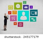 businesswoman and color... | Shutterstock . vector #245177179