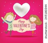 sweet valentine couple | Shutterstock .eps vector #245180344