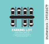 top view of parking lot vector... | Shutterstock .eps vector #245181679