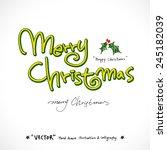 merry christmas    vector  ...   Shutterstock .eps vector #245182039