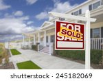 sold home for sale real estate... | Shutterstock . vector #245182069