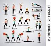 fitness design over gray... | Shutterstock .eps vector #245183164