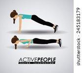 fitness design over gray...   Shutterstock .eps vector #245183179