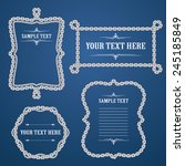 chain border vector art and... | Shutterstock .eps vector #245185849