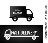 delivery design over black and... | Shutterstock .eps vector #245188201