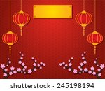 chinese new year graphic and... | Shutterstock .eps vector #245198194