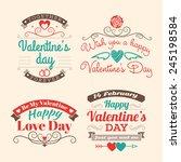 valentine's day set of label ... | Shutterstock .eps vector #245198584
