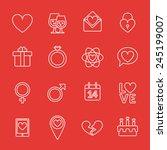 st. valentine's day line icon... | Shutterstock .eps vector #245199007