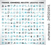 industry icons  finance icons ... | Shutterstock .eps vector #245201041