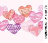horizontal seamless texture... | Shutterstock .eps vector #245205241