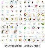 logo mega collection  abstract...   Shutterstock .eps vector #245207854