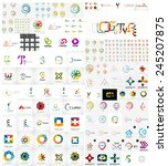 logo mega collection  abstract... | Shutterstock .eps vector #245207875