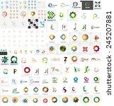 logo mega collection  abstract... | Shutterstock .eps vector #245207881