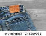 Blue Jeans With Back Pocket An...