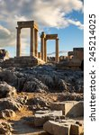 ruins of ancient  temple in... | Shutterstock . vector #245214025