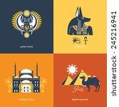 flat travel egypt | Shutterstock .eps vector #245216941