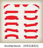 ribbon banner set.red ribbons... | Shutterstock .eps vector #245218321