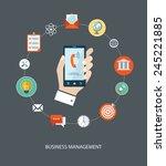 business management flat... | Shutterstock .eps vector #245221885