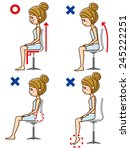 posture to sit   Shutterstock .eps vector #245222251