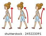 posture to walk   Shutterstock .eps vector #245223391