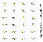 modern company logo set  clean... | Shutterstock .eps vector #245238379