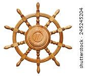 Ship Steering Wheel Isolated On ...