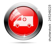 ambulance icon. internet button ... | Shutterstock .eps vector #245248225