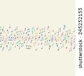 musical notes seamless | Shutterstock .eps vector #245252155
