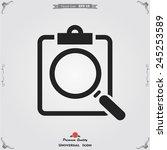 profile resume icon | Shutterstock .eps vector #245253589