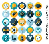 flat concept  design with... | Shutterstock .eps vector #245253751