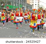 LIMASSOL, CYPRUS-MARCH 9:Unidentified people in Cyprus carnival parade, March 9, 2008 in Limassol,Cyprus. - stock photo
