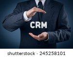 crm  customer relationship... | Shutterstock . vector #245258101