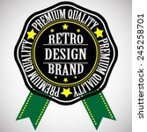vector vintage insignias .  | Shutterstock .eps vector #245258701