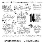 set of hand   drawn valentine'... | Shutterstock .eps vector #245260351