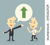 businessman growing chart  | Shutterstock .eps vector #245262529