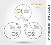 circle and triangle inforaphic. ... | Shutterstock .eps vector #245266315
