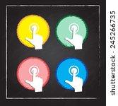 businessman pressing a spot | Shutterstock .eps vector #245266735