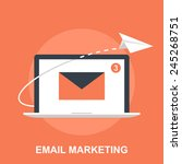 email marketing | Shutterstock .eps vector #245268751