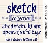 vector set with hand written... | Shutterstock .eps vector #245271427