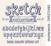 vector set with hand written... | Shutterstock .eps vector #245271481