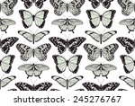 Stock vector a butterfly seamless tillable vintage background pattern design illustration 245276767