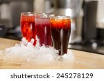 arabian juice of jallab served... | Shutterstock . vector #245278129
