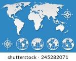 world map elements set | Shutterstock .eps vector #245282071