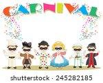 small italian masks | Shutterstock .eps vector #245282185